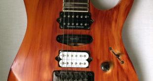 body chitarra elettrica verniciata nitro a tampone