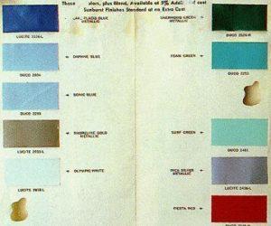 codici colore fender