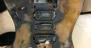 personalizzare chitarra elettrica effetto rust