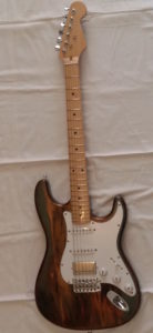Super Strat Y.G. you guitar Rainbow Wood Shmear Finish