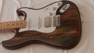 Super Strat Y.G. you guitar Rainbow Wood Shmear Finish on sale