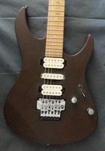 desert night rust matt verniciare chitarra elettrica