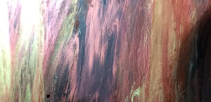 Rainbow Wood Shmear Finish