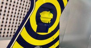 Bullseye Zakk Wilde giallo blu you gustarBullseye Zakk Wilde giallo blu chitarre personalizzate